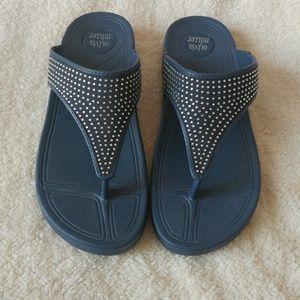 Olivia Miller blinged out sandals